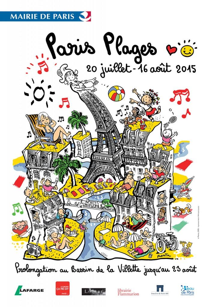 affiche Paris Plages 2015