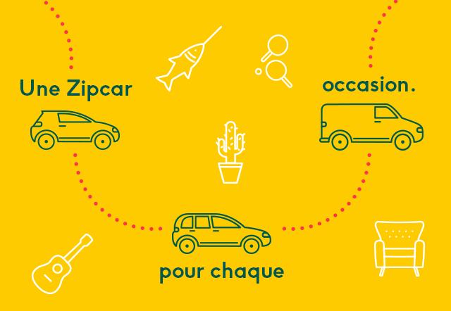 Zipcar propose tous les types de véhicules, de la citadine à l'utilitaire